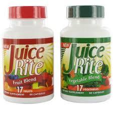 Juice-Rite, 34 fruits et légumes dans une pilule!