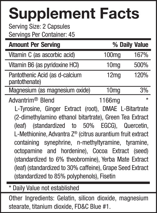 advantrim-supplement-facts-ingredients