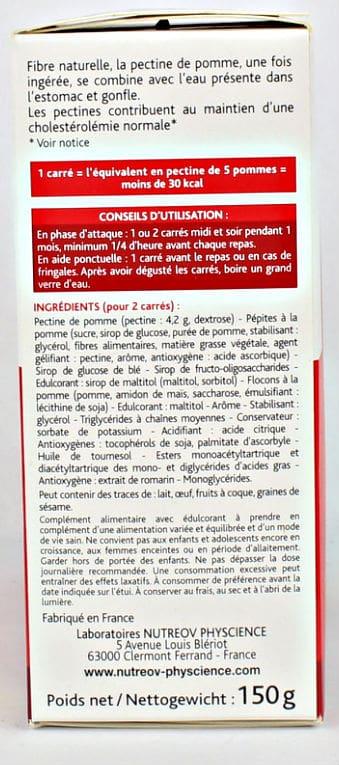 Ingrédients Pectiligne Carrés Coupe Faim