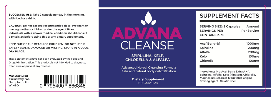 Advana Cleanse Ingredients