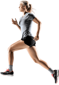 Femme court exercice