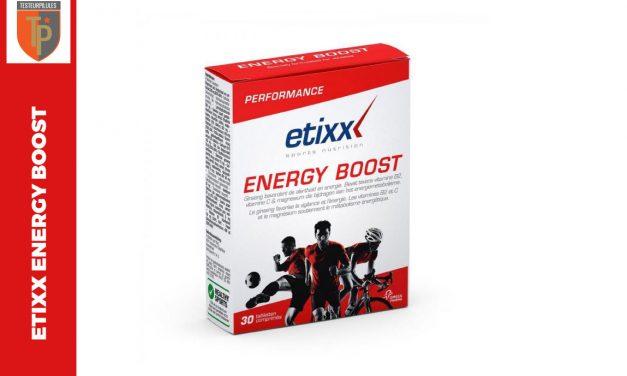 Etixx Energy Boost, un mélange d'ingrédients bien caféiné!
