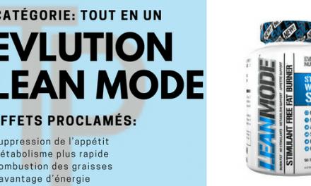 EVLution Nutrition LeanMode, une pilule qui aspire à l'exhaustivité
