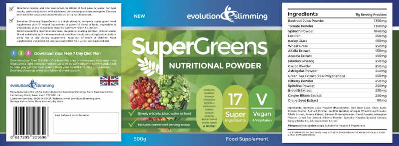 Super Greens Powder Ingredients