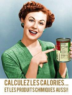 Calculer les calories mais les produits chimiques aussi