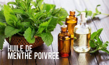 Huile de menthe poivrée, essentielle et aromatique