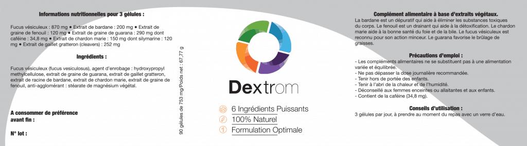 Dextrom-Ingrédients
