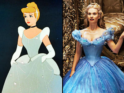 Cendrillon personnage anime vs reel