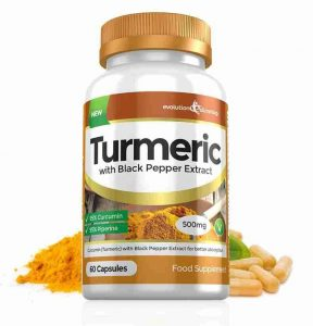 Turmeric with Pepper Extract-Flacon-500mg