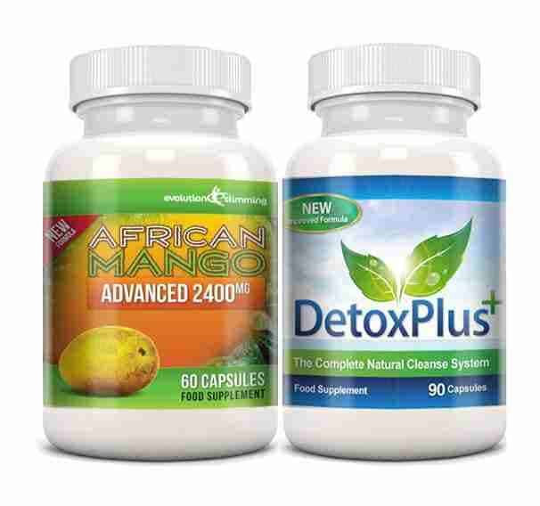 Pure African Mango 2400mg et Detox Cleanse Combo Pack